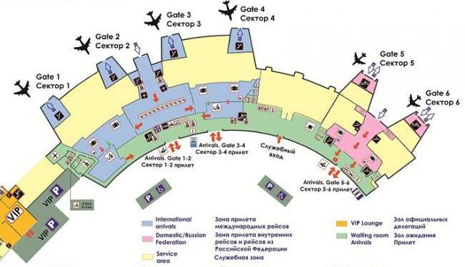 Схема аэропорта Минск 2 прилет 1 этаж