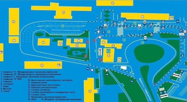 Схема аэропорта Симферополь