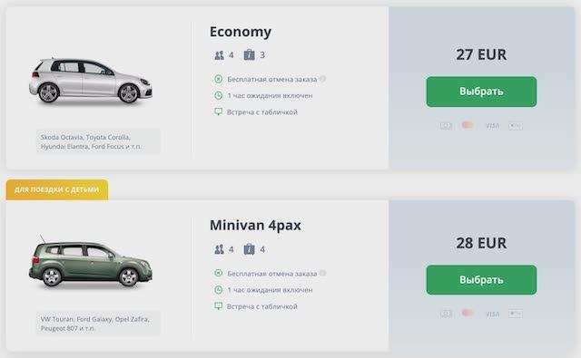 Цены такси из аэропорта Будапешта в центр города
