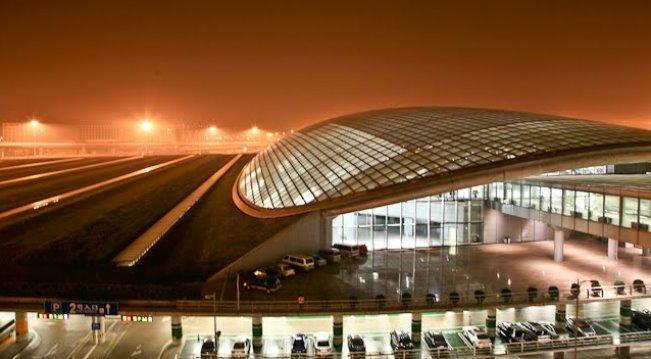 аэропорт Пекина ночью