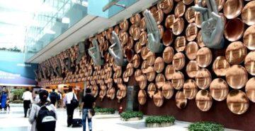 Главный индийский аэропорт, оформление терминала