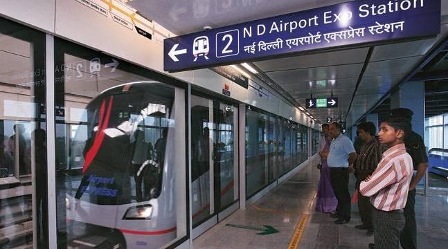 Метро в аэропорту Индиры Ганди