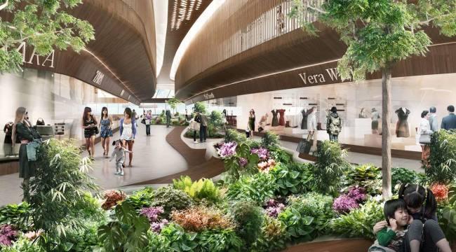 Сад в терминале аэропорта Чанги