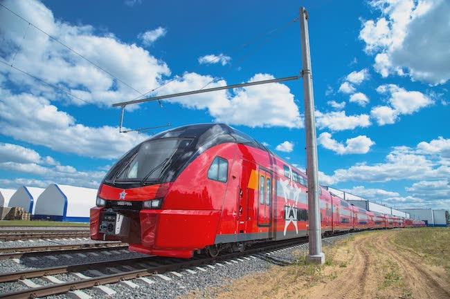 Поезд из аэропорта Шереметьево в центр Москвы