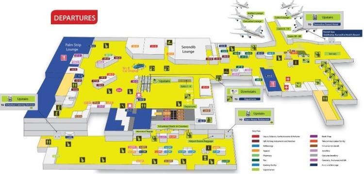 Схема аэропорт Коломбо зона вылета