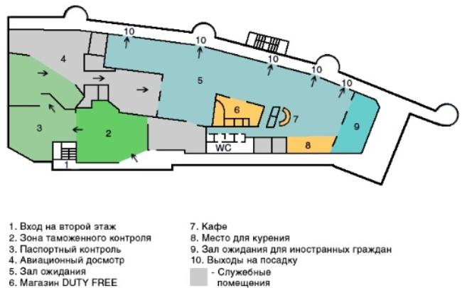 Схема нового терминала аэропорт Калининграда