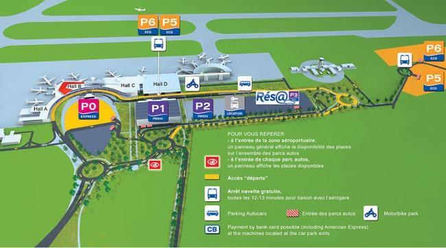 Схема аэропорта Тулуза-Бланьяк