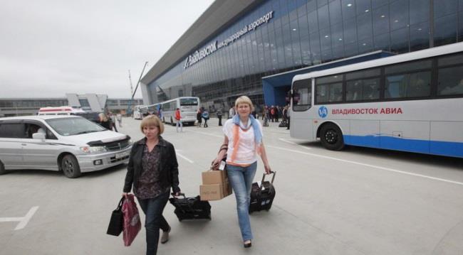 Остановка автобуса в аэропорту