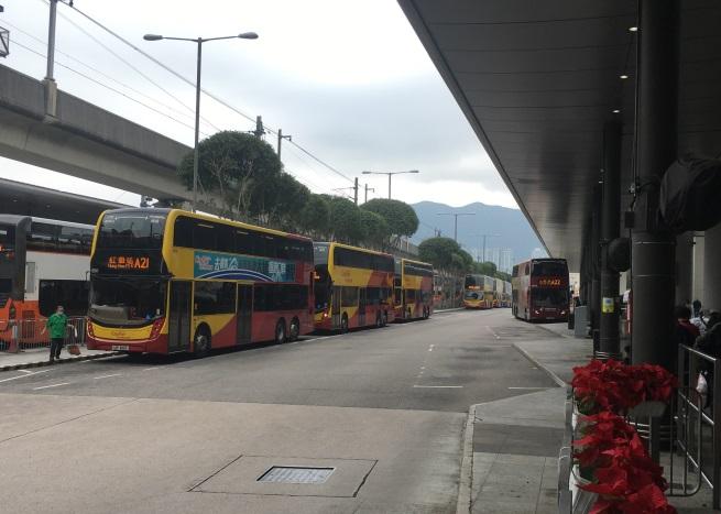 Автобусы из аэропорта Гонконга до центра города
