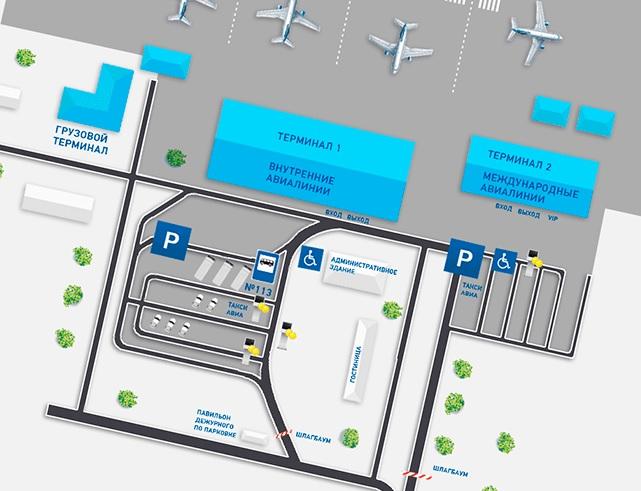 Схема аэропорта Анапа Витязево