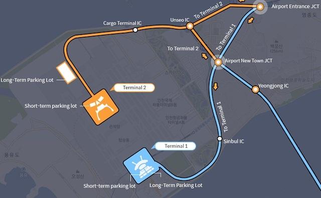 Схема аэропорта Инчхон в Сеуле