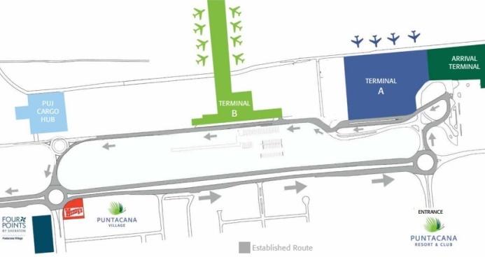 Схема аэропорта Пунта Кана в Доминиканской республике