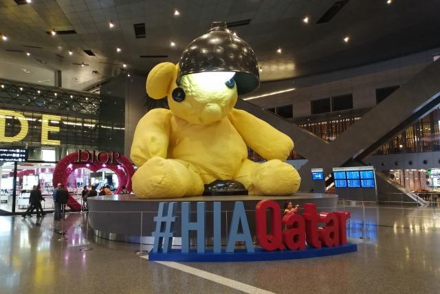 Внутри терминала аэропорта Дохи