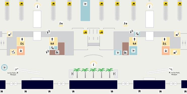 Схема аэропорта Хамад ( зона прилета)