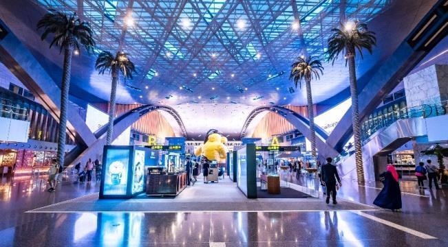 Внутри терминала аэропорта Хамад