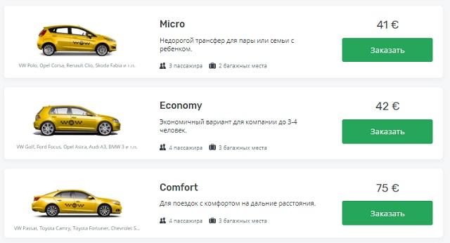 Цены на такси из аэропорта Анталии до Сиде