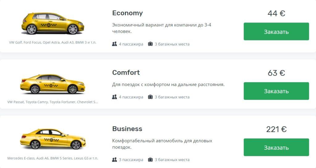 Цены на такси из аэропорта Анталии