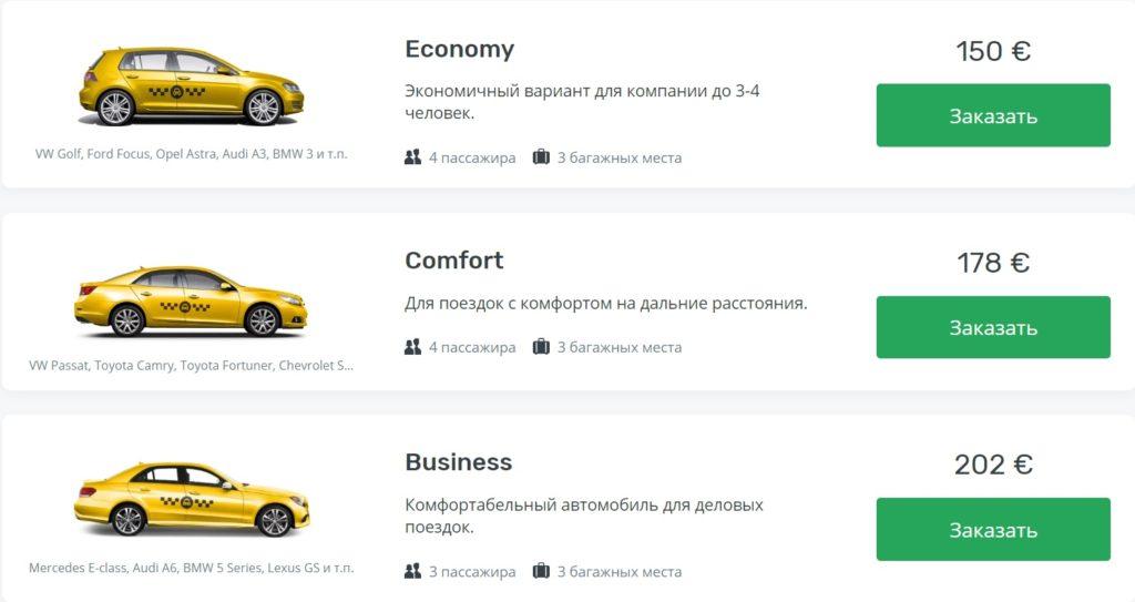 цены на такси из аэропорта Барселоны