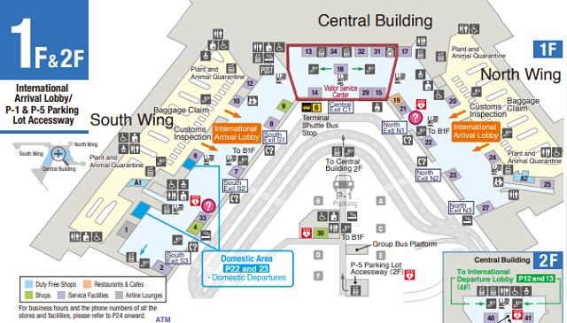 Схема Терминала 1 Токио Нарита