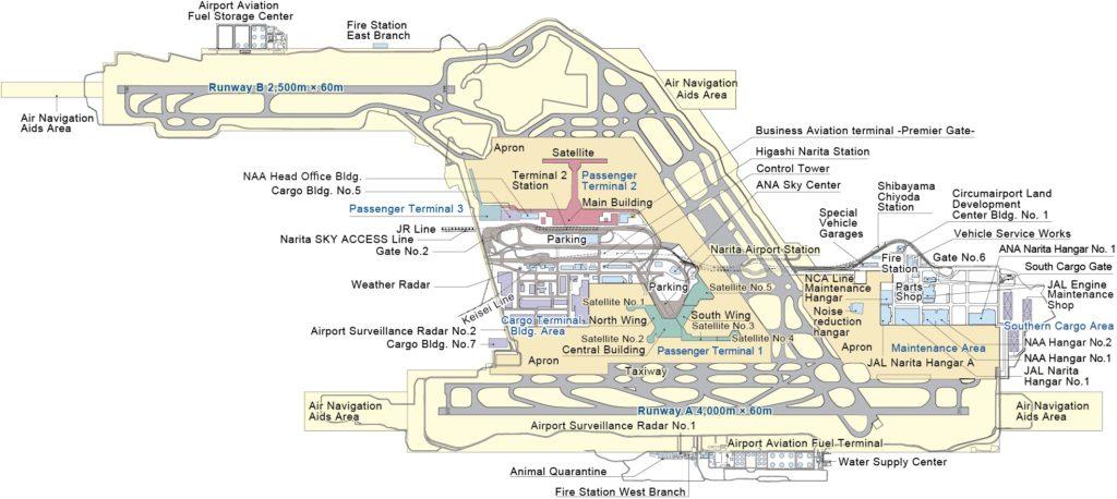 схема аэропорта Нарита