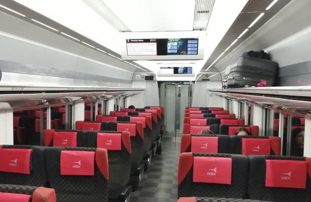 Narita Express, внутри вагона