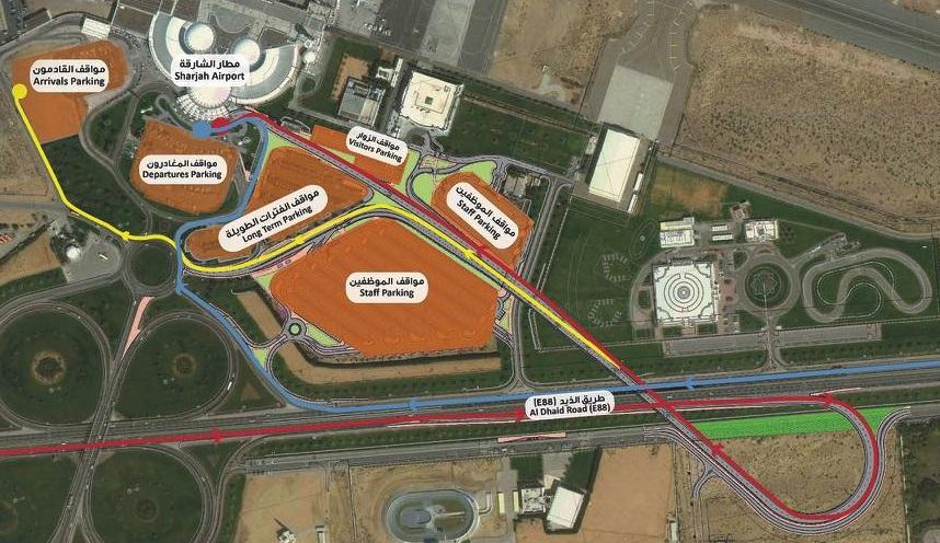 схема аэропорта Шарджи