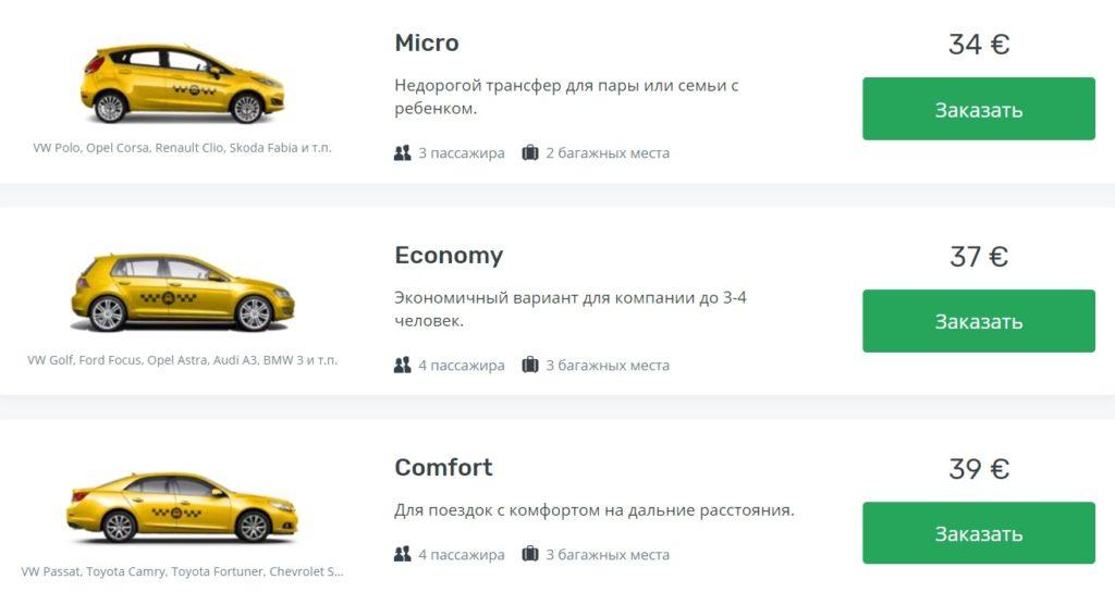 цены на такси из аэропорта Шарджи