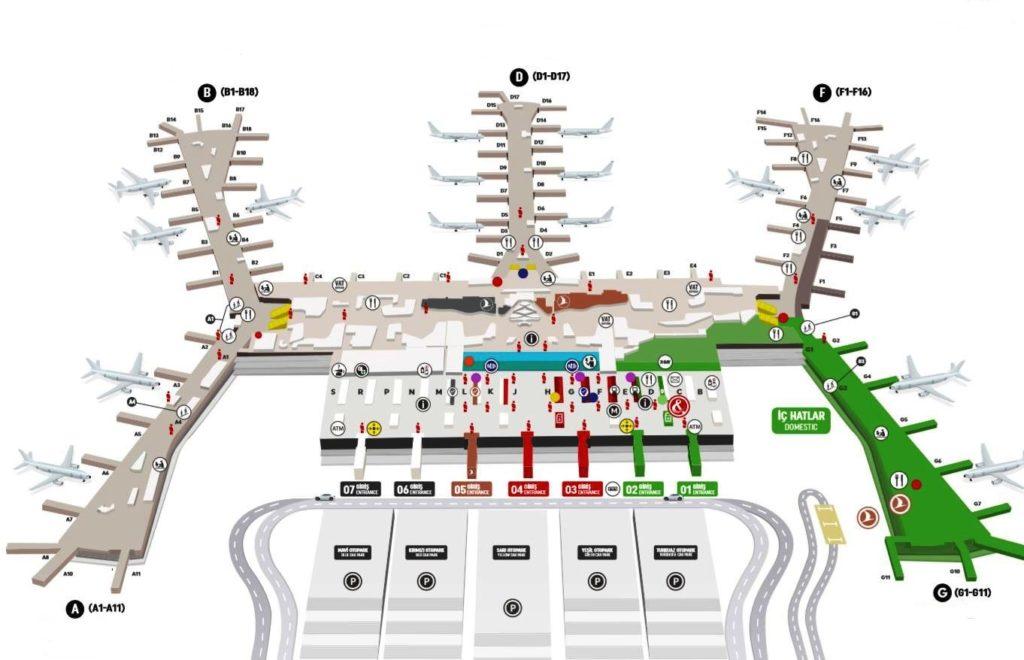 Схема Нового аэропорта Стамбула