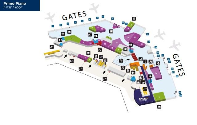 Схема зоны вылета аэропорта Болонья