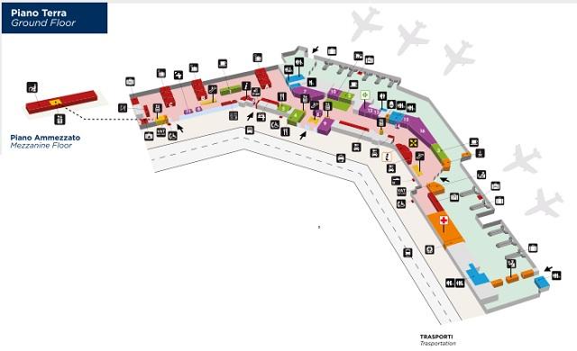 Схема зоны прилета аэропорта Болонья