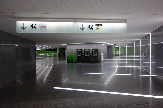 ж/д вокзал аэропорт Швехат