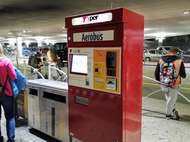 Остановка автобуса в аэропорту Болоньи
