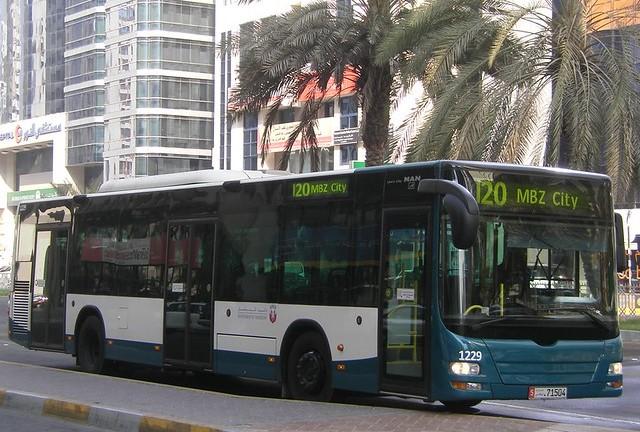 Городской автобус в Абу-Даби