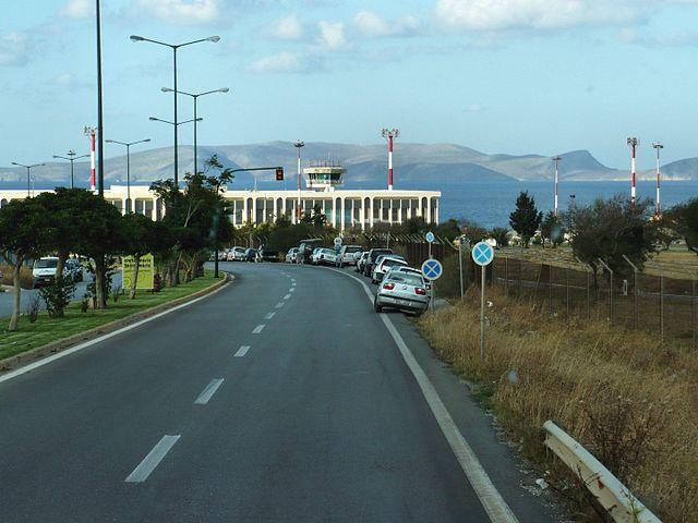 дорога из аэропорта Ираклион в город