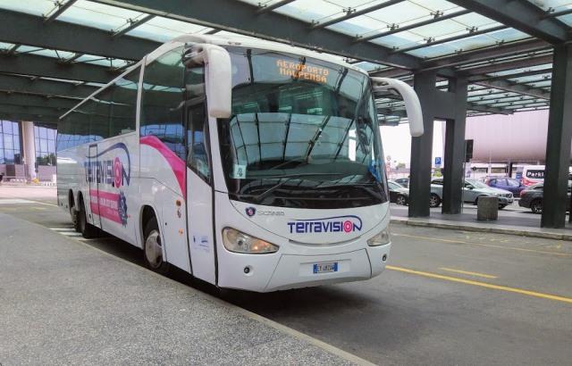 Автобус в аэропорту Милана