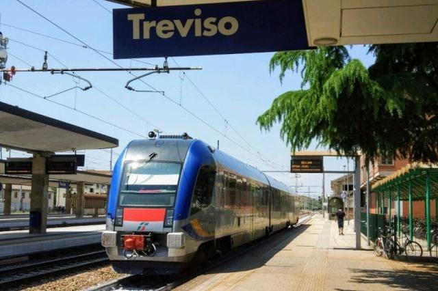 Поезд из Тревизо до Венеции