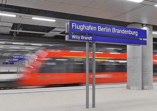жд станция в аэропорту Берлин Бранденбург